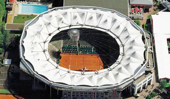 德国汉堡网球场索膜结构